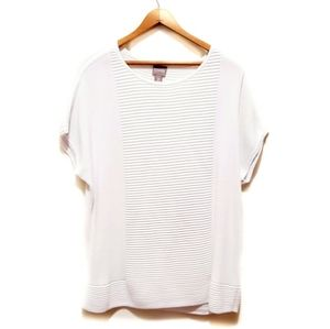🎉Chico's White Dolman Sleeved Ribbed Tee Shirt🎉